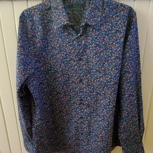 Mens Perry Ellis foral button up size xl nwot